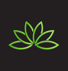 Green lotus plant image vector