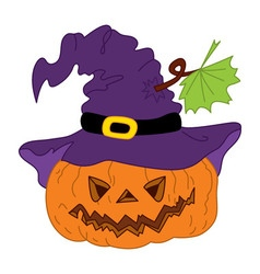 Halloween Pumpkin with Hat vector image