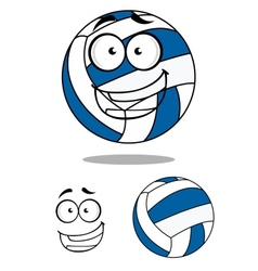 Happy cartoon volley ball vector