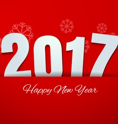 Happy New Year 2017 on Red Background vector image