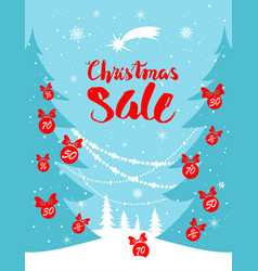 holiday sale background vector image