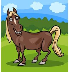 horse farm animal cartoon vector image vector image