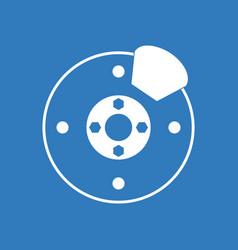 Icon wheel and brake vector
