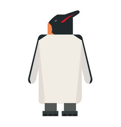 Isolated abstract penguin vector