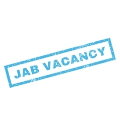 Jab vacancy rubber stamp vector