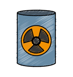 Nuclear barrel icon vector