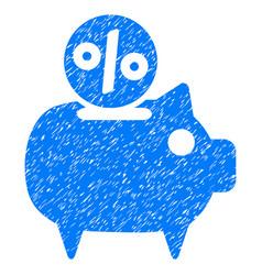 piggy bank grunge icon vector image vector image