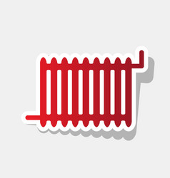 radiator sign new year reddish icon with vector image