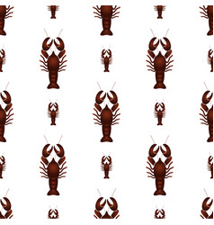 Red lobster animal simple seamless pattern eps10 vector
