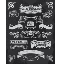 Retro vintage banners and ribbons vector