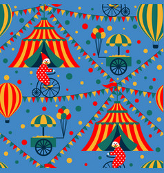 seamless circus vector image vector image
