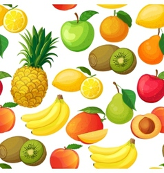 seamless pattern fruit vector image