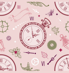 Seamless patterns clock vector