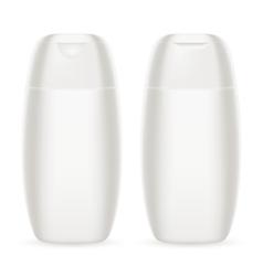 Shampoo white plastic bottle eps 10 vector