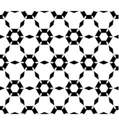 Simple black white hexagonal pattern vector