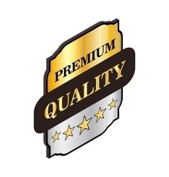 Square label premium quality icon vector