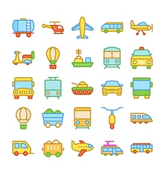 Transport colored icons 1 vector