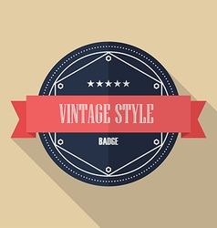 Vintage retro flat badge vector