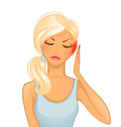 woman headache vector image