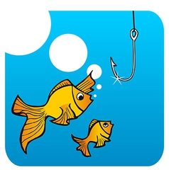 Fathers fish lesson vector