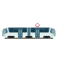 Tram public transport or tramcar modern vector