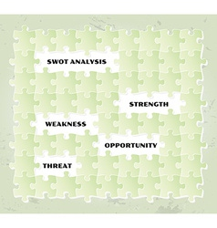 Swot analysis puzzle vector