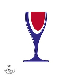 Beautiful sophisticated wine goblet stylish vector