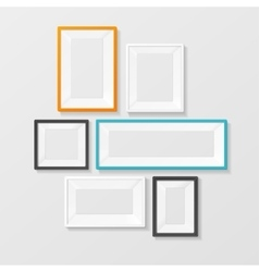 Colorful picture frame template set vector