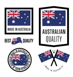 Made in Australia label set vector image