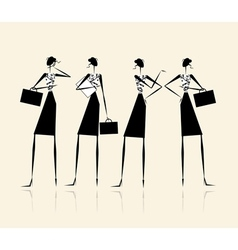 Business ladies silhouette for your design vector image vector image