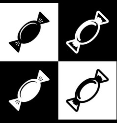 candy sign black and white vector image vector image