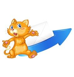 cat arrow and envelop vector image vector image