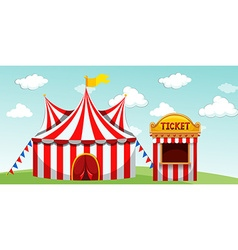Circus tent and ticket booth vector image vector image