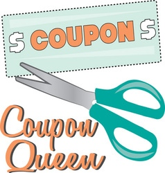 Coupon Queen vector image vector image