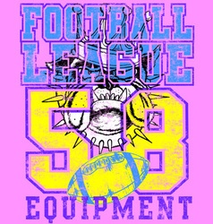 DOGS FOOTBALL LEAGUE vector image vector image