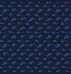 fishes silhouettes seamless pattern design - sea vector image