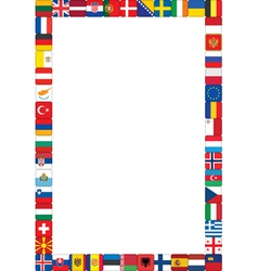 frame made of flags vector image
