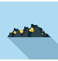 Gold mine icon in flat style vector