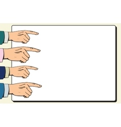 Hands index finger pointer poster vector image