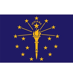 indiana flag vector image vector image