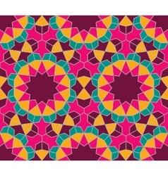 Islamic colorful geometric seamless pattern vector image