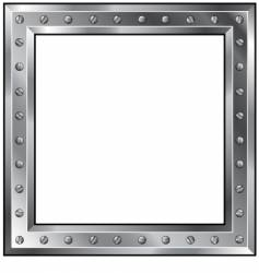 metal frame with bolts vector image