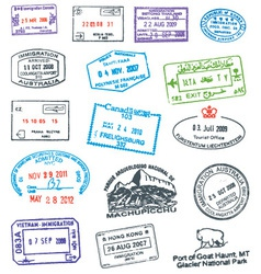 Passport Stamp vector image vector image