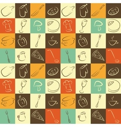 pattern with kitchen elements vector image