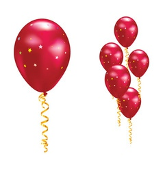Red party balloon vector
