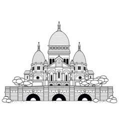 Sacre Coeur vector image vector image