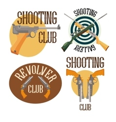 Set of logo shooting club vector image vector image