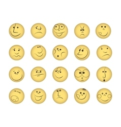 Set of smiles vector image