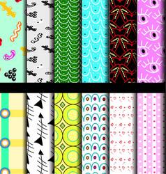 set pattern geometric vector image vector image