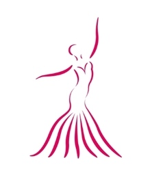 Sketched dancing girl vector image vector image
